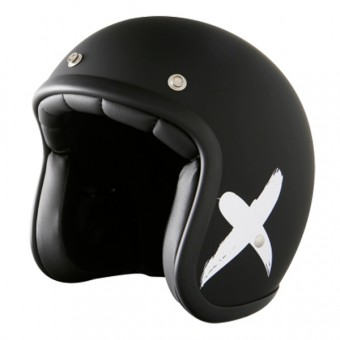 Casque Jet Stormer Pearl X-Rider Black White Mat