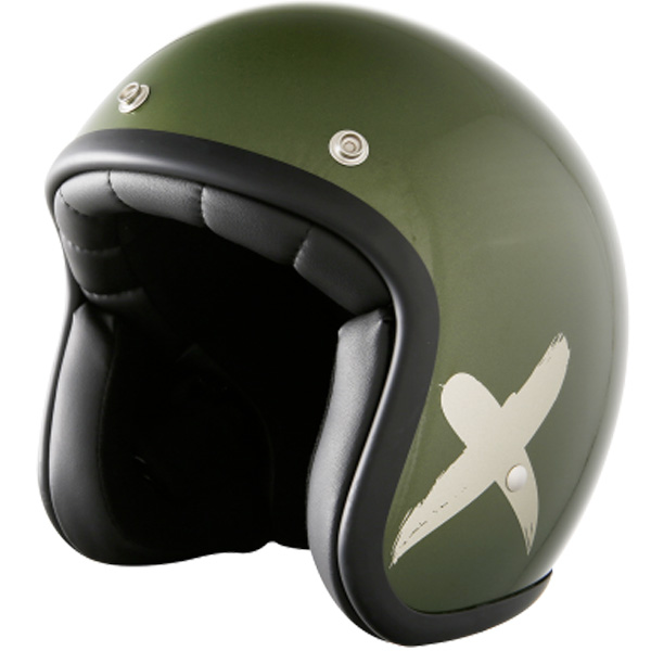 Casque Jet Stormer Pearl X-Rider Khaki Grey Mat