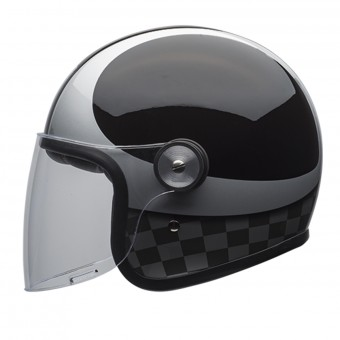 Casque Jet Bell Riot Checks Black Silver