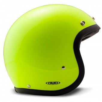 Casque Jet Dmd Vintage Fluo Yellow