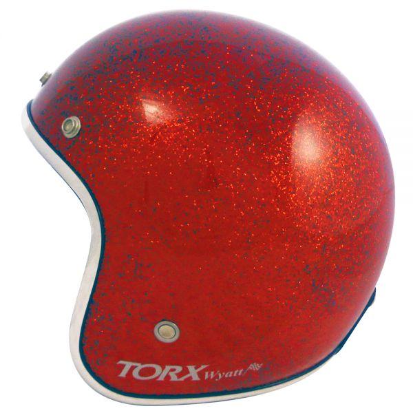 Casque Jet Torx Wyatt Glitter Big Red