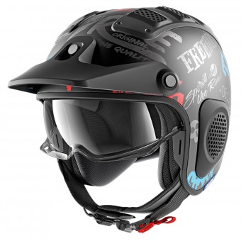Casque Jet Shark X-Drak Freestyle Cup Mat KAB