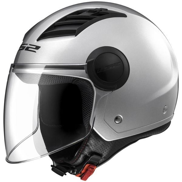 Casque Jet LS2 Airflow Metal Silver Long OF562