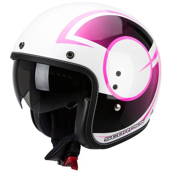 Casque Jet Scorpion Belfast Citurban Pearl White Pink