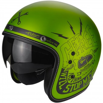 Casque Jet Scorpion Belfast Fender Green Black