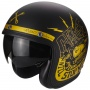 Casque Jet Scorpion Belfast Fender Matt Black Gold