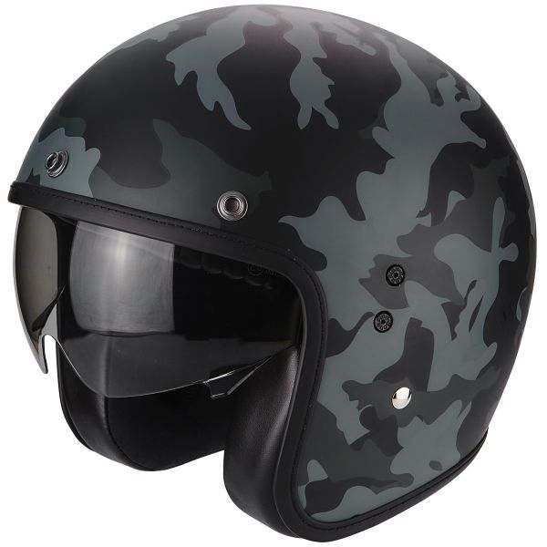 Casque Jet Scorpion Belfast Mission Matt Black Grey