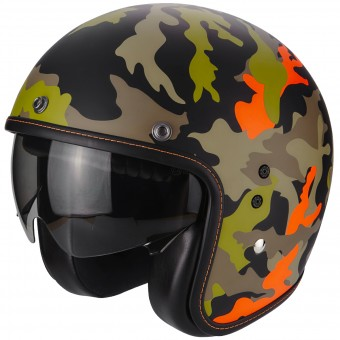 Casque Jet Scorpion Belfast Mission Matt Black Orange