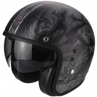 Casque Jet Scorpion Belfast Urbex Matt Black Silver