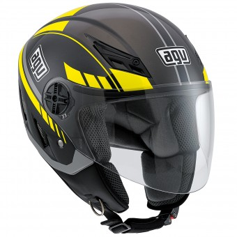 Casque Jet AGV Blade Human Black Silver Yellow