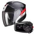 Pack Exo S1 Cross-Ville Black Red + Kit Bluetooth Sena 5S Solo