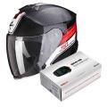Pack Exo S1 Cross-Ville Black Red + Kit Bluetooth Sena SMH5