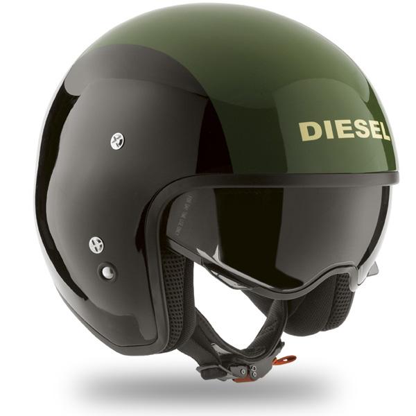 Casque Jet Diesel Hi-Jack Black Green