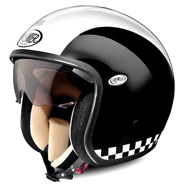 Casque moto jet retro