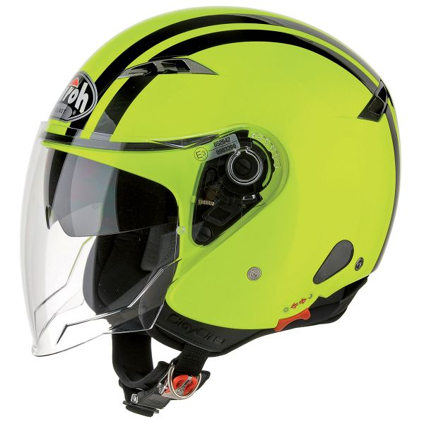 Casque Jet Airoh City One Flash Jaune