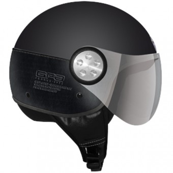 Casque Jet GPA Como Leather Black Matt