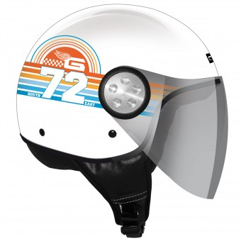 Casque Jet GPA Como Sunrise Blanc