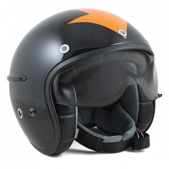 Casque Jet HARISSON Corsair Harrow Noir Orange