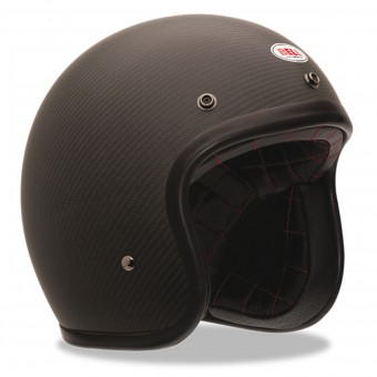 Casque Jet Bell Custom 500 Carbon Solid Black Dlx