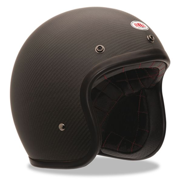 Casque Jet Bell Custom 500 Carbon Solid Black Dlx