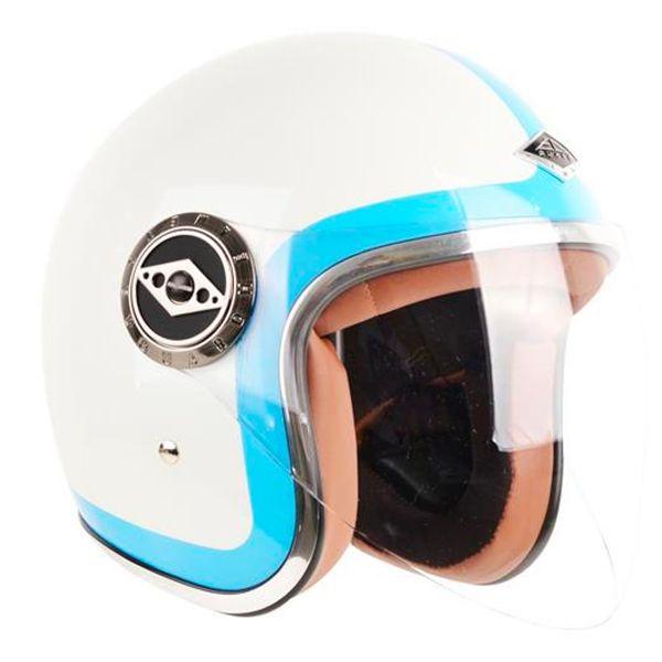Casque Jet Edguard Dirt Ed Visor Heritage Bleu