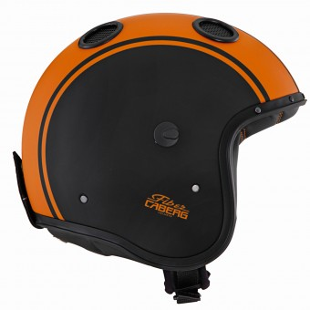 Casque Jet Caberg Doom Legend Matt Black Orange