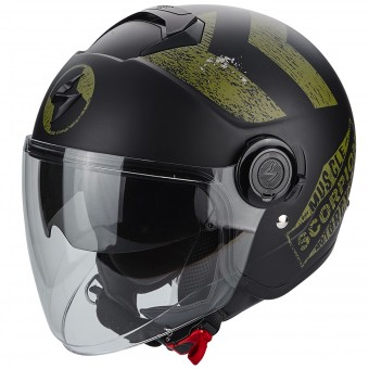 Casque Jet Scorpion Exo City Heritage Matt Black Khaki