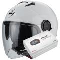 Pack Exo City White + Kit Bluetooth Sena SMH5