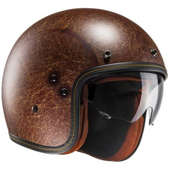 Casque Jet HJC FG-70s Vintage Semi Mat Brown