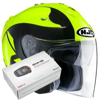 Casque Jet HJC FG-Jet Acadia MC4 + Kit Bluetooth Sena SMH5