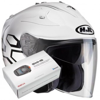 Casque Jet HJC FG-Jet Dukas MC10 + Kit Bluetooth Sena SMH5
