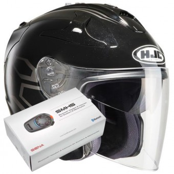 Casque Jet HJC FG-Jet Dukas MC5 + Kit Bluetooth Sena SMH5