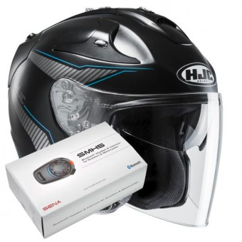 Casque Jet HJC FG-Jet Jike MC2SF + Kit Bluetooth Sena SMH5