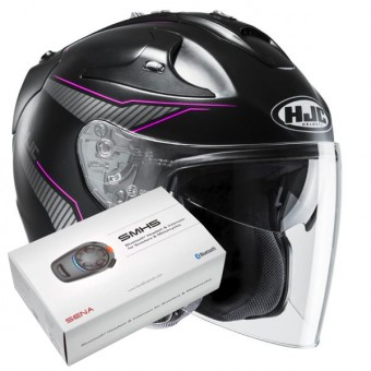 Casque Jet HJC FG-Jet Jike MC8SF + Kit Bluetooth Sena SMH5
