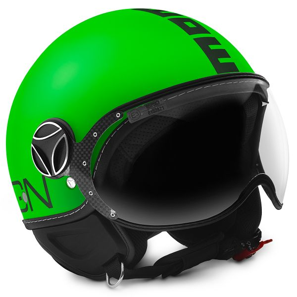 Casque Jet Momo Design FGTR Fluo Green