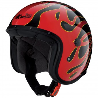 Casque Jet Caberg Freeride Flame Black Red