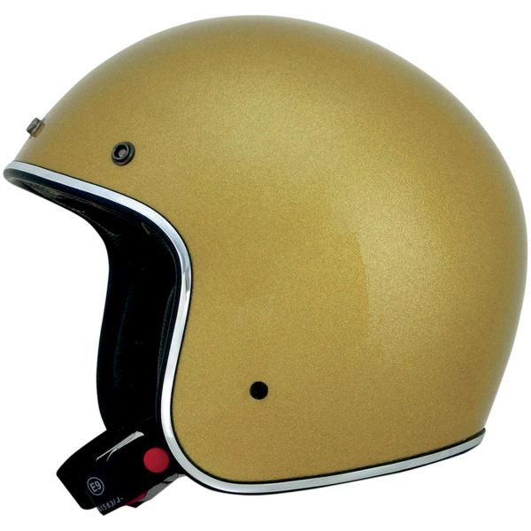 Casque Jet AFX FX-76 Vintage Gold Metal Flake