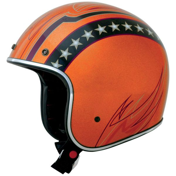 Casque Jet AFX FX-76 Vintage Line Orange Chrome