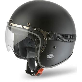 Casque Jet Airoh Garage Black Matt