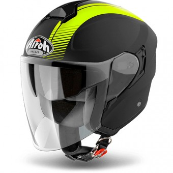 Casque Jet Airoh Hunter Simple Yellow Matt