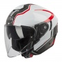 Casque Jet Airoh Hunter Soul Blanc Rouge