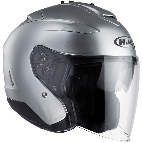 Casque Jet HJC IS-33 II Semi Flat Silver