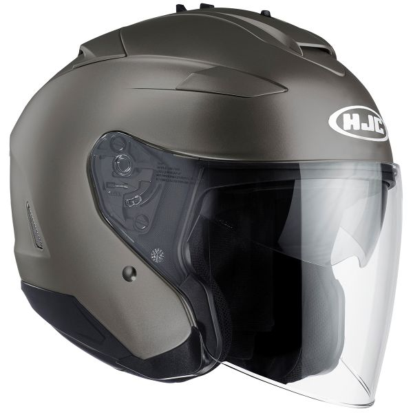 Casque Jet HJC IS-33 II Semi Flat Titanium
