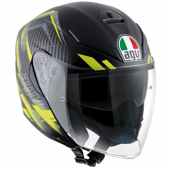 Casque Jet AGV K-5 Jet Urban Hunter Matt Black Yellow
