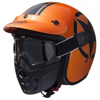 Casque Jet Premier Mask Star Metalic Orange