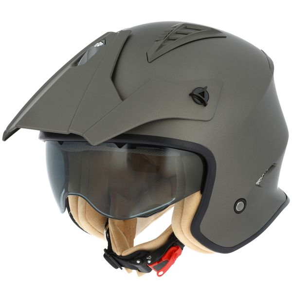 Casque Jet Astone Minicross Matt Brown