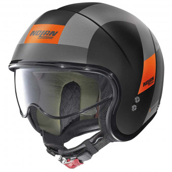 Casque Jet Nolan N21 Spheroid Flat Black Orange 75