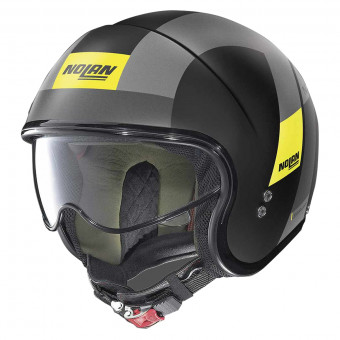 Casque Jet Nolan N21 Spheroid Flat Black Yellow 73