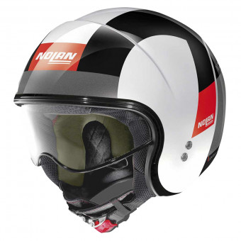 Casque Jet Nolan N21 Spheroid Metal White Grey 78