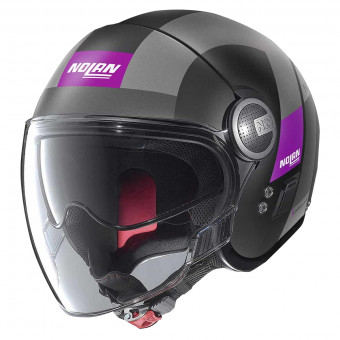 Casque Jet Nolan N21 Visor Spheroid Flat Black Purple 52